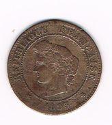 )  FRANKRIJK 5 CENTIMES 1893 A - France