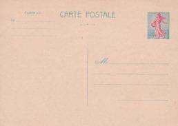Carte Postale Semeuse - Standard Postcards & Stamped On Demand (before 1995)