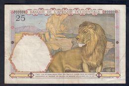Afrique Occidentale AOF French West Africa 25 Francs 22 04 1942  Lotto 083 - États D'Afrique De L'Ouest