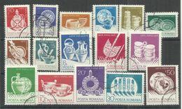 """Rumänien 3915-3930 """"16 Briefmarken Im Satz Zu Glas Und Keramik"""" Gestempelt Mi. 1,80 - 1948-.... Républiques"""