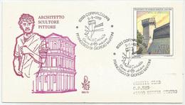 FRANCESCO DI GIORGIO MARTINI - MURA DI CORINALDO - 1989 - FDC VENETIA 690/it - ANNULLO SPECIALE CORINALDO - VIAGGIATA - 6. 1946-.. Republic
