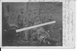 Champagne Ville Sur Tourbe Soldats Allemands 21ème Reserve Div. Au Repos Chien Mascotte 1carte Photo 1914-1918 Ww1 14-18 - War, Military