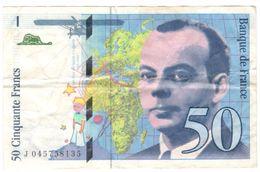 Billet 50 Francs Saint-Exupery 1997 - 1992-2000 Laatste Reeks