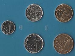 NAMIBIA COIN SET 5 MONNAIES: 5 CENTS - 5 DOLLARS 1993 - 2006 ANIMALS - Namibia