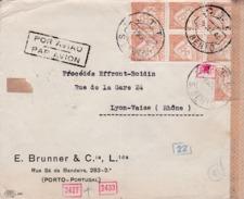 Lettre Du Portugal Censurée Pour La France - 1921-1960: Modern Period