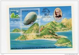 Sao Tome 1979-Zeppelin-UPU-R Hill-MI B36***MNH-NON Dentelé - Airships