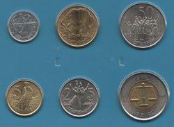 ETHIOPIA COIN SET 6 MONNAIES: 1 SANTIM - 1 BIRR MIX DATES ANIMALS ELEPHANTS - Ethiopia