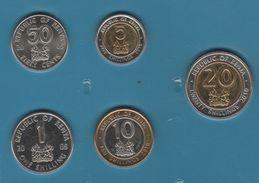 KENYA COIN SET 5 MONNAIES: 50 CENTS - 20 SHILLINGS 2005 - 2010 - Kenya