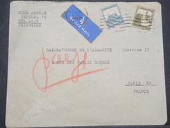 PALESTINE - Enveloppe Par Avion De Tel Aviv Pour Paris En 1947 - L 9895 - Palestine