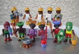 Kinder 1995 : Série Complète Allemande Playmobil : Faszinierendes Afrika Avec 1 BPZ (11 Figurines) - Lots