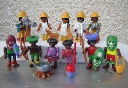 Kinder 1995 : Série Complète Allemande Playmobil : Faszinierendes Afrika Avec 1 BPZ (11 Figurines) - Kinder & Diddl