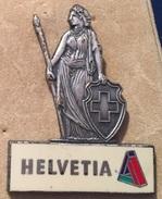 HELVETIA - HELVETIE - DRAPEAU SUISSE - SWISS FLAG - SCHWEIZ - SUISSE  -                      (BRUN) - Altri