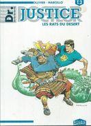 """DOCTEUR JUSTICE  """" LES RATS DU DESERT """" -  OLLIVIER / MARCELLO -  E.O. AVRIL 1994  SOLEIL - Unclassified"""
