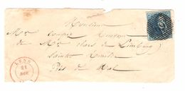 TP 2 Epaulette S/devant De Lettre / Voorzijde Brief P 69 Lens 21/11/? 3 Belles Marges PR4786 - Belgium