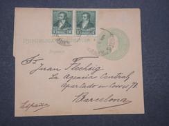 ARGENTINE - Bande Journal + Complément Pour Barcelone En 1898 - L 9899 - Ganzsachen