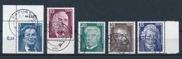 DDR 1975 Mi. 2025 - 2029 Tlw. Rand Gest. Persönlichkeiten Otto Mann Schweitzer Michelangelo Ampere - Gebraucht