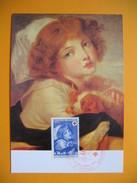 Carte-Maximum N° 1700  Au Profit De La Croix Rouge - Oeuvre De Geuze - Jeune Fille Au Petit Chien  1971 - Cartes-Maximum