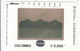 COLOMBIA(Tamura) - Horizonte Sostenido, Painting/Manuel Hernandez, Tirage 19000, Used - Colombia