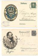 Alemania. Cuatro Enteros Postales Diferentes Y Circulados - Cartas