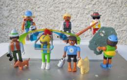 Kinder 2001 : Série Complète Allemande Playmobil : Urlaud In Den Alpen Avec 1 BPZ (9 Figurines) - Lots
