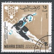 Mahra State, South Arabia 1967. Michel #40 (U) Winter Olympic Games, Grenoble, Slalom - Timbres