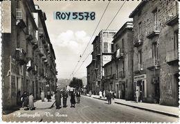 Campania-battipaglia Via Roma Veduta Negozi Gente A Passeggio Bella Animatissima Veduta Anni 50 - Battipaglia