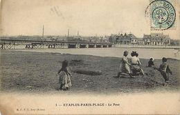 - Pas De Calais - Ref-A840 - Etaples - Paris Plage - Le Pont - Ponts - Carte Bon Etat - - Etaples
