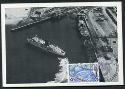 DUNKERQUE - NOUVELLES INTALLATIONS PORTUAIRES - LA DARSE DE LA MANCHE - CARTE 1er JOUR 1977 - Dunkerque