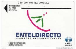 CHILE(Tamura) - Entel Directo 2(brown Reverse), Used - Chile