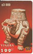 COSTA RICA - Vasija De Ceramica Con Efigie De Jaguar 1300-1500 D.C., ICE Tel Prepaid Card C 3000, 01/98, Used - Costa Rica