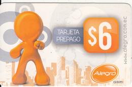 ECUADOR  - Alegro Prepaid Card $6, 10/09, Used - Ecuador