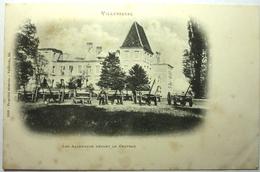 LES ALLEMANDS DEVANT LE CHATEAU - VILLERSEXEL - Autres Communes
