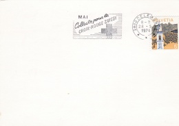 Switzerlandcard Delemont 1974 Mai Collecte Pour Le Croix-Rouge Suisse (SKO6-28A) - Rode Kruis
