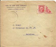 CARTA LA ÑORA  MURCIA  FRANQUEO BISECTADO - 1931-Today: 2nd Rep - ... Juan Carlos I