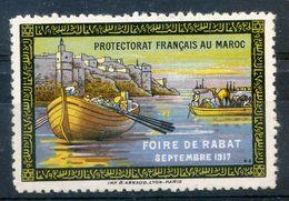 "Maroc, Morocco ,Marruecos,1917 ;vignette "" Foire De Rabat "";Neuf* - Marruecos (1956-...)"