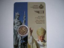 Saint Marin 2€ BU 2011 Visite Du Pape Benoit XVI - San Marino