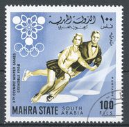 Mahra State, South Arabia 1967. Michel #44 Winter Olympic Games, Grenoble, Figure Skating, Patinage Artistique - Timbres