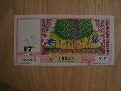 BILLET DE LOTERIE LA FORET AU PRINTEMPS 1965 - Lottery Tickets