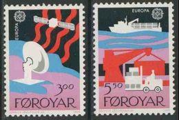 Faroer Faroe Islands 1988 Mi 166 /7 YT 160 /1 Sc 173 /4 ** Dish Aerial, Satellite + Container Ship, Dockside Scene - Europa-CEPT