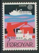 Faroer Faroe Islands 1988 Mi 167 YT 161 Sc 174 ** Container Ship + Dockside Scene / Ladekran, Gabelstapler - Europa Cept - Transportmiddelen