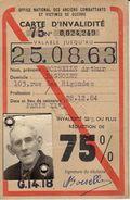 CARTE D INVALIDITE BAGNOLET - Vieux Papiers
