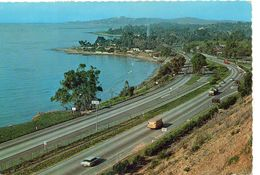 Etats-Unis USA Californie Santa-Barbara Belle Vue Aérienne US Route 101 US Highway 101 Crescent Coastline - Santa Barbara