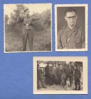 WK II - 3 Fotos Von Soldaten - Krieg, Militär