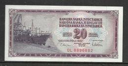 1978 - Yugoslavia - 20 DINARA Excellent Quality - Jugoslawien