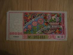 BILLET DE LOTERIE VENDREDI 13 1961 - Lottery Tickets