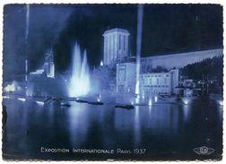 75 : PARIS - EXPOSITION INTERNATIONALE 1937 - PERSPECTIVE SUR LES PAVILLONS DU PORTUGAL... VUE DE NUIT (CPSM) - Exhibitions