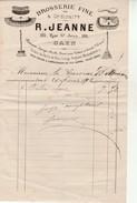 Facture Brosserie Fine-R.Jeanne-Rue St Jean-Caen. - 1800 – 1899