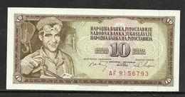1968 - Yugoslavia -10 DINARA Excellent Quality - Jugoslavia