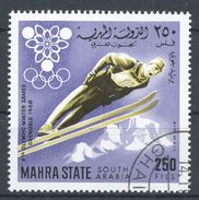 Mahra State, South Arabia 1967. Michel #46 (U) Winter Olympic Games, Saut En Ski, Ski Jump - Timbres