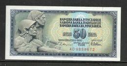 1978 - Yugoslavia - 50 DINARA Excellent Quality - Jugoslavia